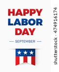 happy labor day  holiday in... | Shutterstock .eps vector #474916174