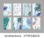 set of creative universal... | Shutterstock .eps vector #474918610