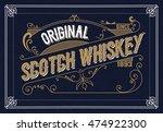 old  label design for whiskey... | Shutterstock .eps vector #474922300