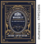 whiskey label with old frames | Shutterstock .eps vector #474922606