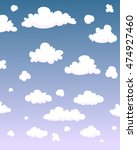 cartoon clouds | Shutterstock .eps vector #474927460