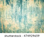 old concrete wall green... | Shutterstock . vector #474929659
