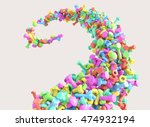 swirl of colorful screws and... | Shutterstock . vector #474932194
