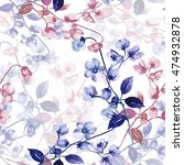 Seamless Watercolor Flowers O...