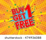 buy1 get 1 free  wording in... | Shutterstock .eps vector #474936088