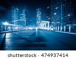 night view of empty brick floor ... | Shutterstock . vector #474937414