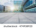 empty brick floor with modern... | Shutterstock . vector #474938920