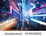 skyscrapers night view with... | Shutterstock . vector #474939850