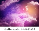 space of night sky with cloud... | Shutterstock . vector #474940594