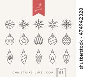 christmas outlined icons  ... | Shutterstock .eps vector #474942328