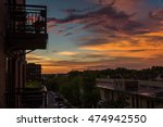 condo living  sunset view from... | Shutterstock . vector #474942550