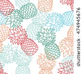 vector seamless pattern with... | Shutterstock .eps vector #474945676