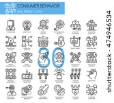 consumer behavior   thin line... | Shutterstock .eps vector #474946534