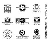 set of photography logo and... | Shutterstock .eps vector #474947440