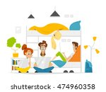 color vector flat illustration... | Shutterstock .eps vector #474960358