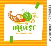 vector logo for harvest autumn... | Shutterstock .eps vector #474960856