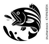 black fishing symbol  vector   Shutterstock .eps vector #474965854