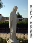 statue of our lady of madjugorje | Shutterstock . vector #47498320
