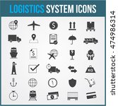 logistic vector system icons... | Shutterstock .eps vector #474986314