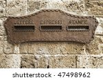 vintage rusty iron mail box on... | Shutterstock . vector #47498962