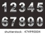 vector metal numbers. | Shutterstock .eps vector #474990004