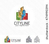 abstract city building logo... | Shutterstock .eps vector #474990394