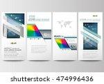 flyers set  modern banners.... | Shutterstock .eps vector #474996436