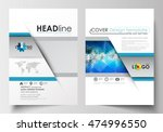 business templates for brochure ... | Shutterstock .eps vector #474996550