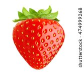 red berry strawberry isolated... | Shutterstock . vector #474999268