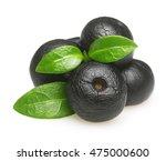 amazon acai fruit with leaf... | Shutterstock . vector #475000600