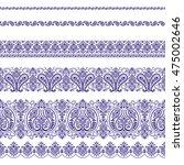 scarf ornament design | Shutterstock .eps vector #475002646