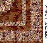 scarf ornament design | Shutterstock .eps vector #475002664