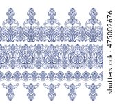 scarf ornament design | Shutterstock .eps vector #475002676
