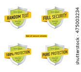 security shield protection sign.... | Shutterstock .eps vector #475003234