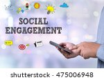 social engagement person... | Shutterstock . vector #475006948