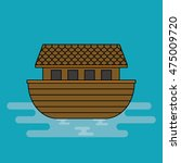 noah's ark  cartoon vector.