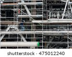build petrochemical plant. | Shutterstock . vector #475012240
