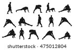 soccer players stretching... | Shutterstock .eps vector #475012804