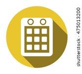 calendar icon. flat design.
