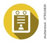 calendar icon. flat design. | Shutterstock .eps vector #475014820
