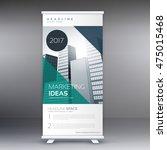 modern roll up stand banner... | Shutterstock .eps vector #475015468