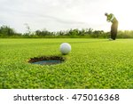 golfer long putting golf ball... | Shutterstock . vector #475016368