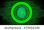 fingerprint with concept green... | Shutterstock . vector #475031140