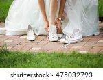 Bride Change Shoes Sneakers
