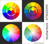 vector color spectrum wheel ... | Shutterstock .eps vector #475033594