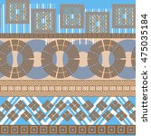 tribal seamless pattern.... | Shutterstock .eps vector #475035184