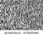 zebra stripes  animal skin ... | Shutterstock .eps vector #475035364
