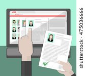 find resume and hiring. finding ... | Shutterstock . vector #475036666