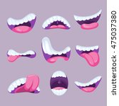 cartoon mouths expressions... | Shutterstock .eps vector #475037380