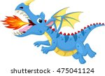 cute dragon with fire | Shutterstock .eps vector #475041124